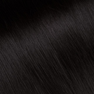 Flat tip Hair Extension № 1, black