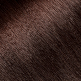 Flat tip Hair Extension № 6, light chestnut