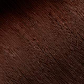 Flat tip Hair Extension № 32, mahagany chestnut