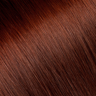 Flat tip Hair Extension № 35, deep red