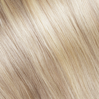 Flat tip Hair Extension № 140, golden ultra blonde