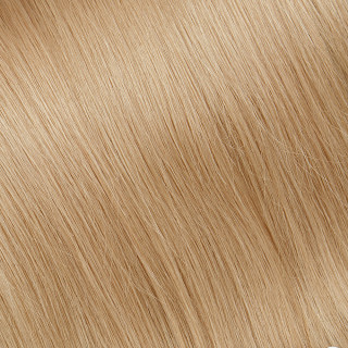 Flat tip Hair Extension № DB4, golden